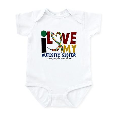 I Love My Autistic Sister 2 Infant Bodysuit