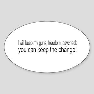 Keep The Change Oval Sticker