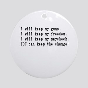 Keep the Change Ornament (Round)