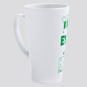 Yes I Do Have Eyes In The Back Fun 17 oz Latte Mug