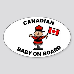 Canadian Baby on Board Oval Sticker