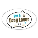 Dog Lover Oval Sticker