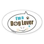 Dog Lover Oval Sticker (10 pk)