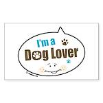 Dog Lover Rectangle Sticker 50 pk)