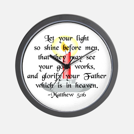 """""""Let Your Light So Shine"""" Wall Clock"""