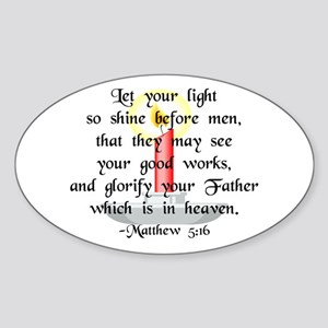 """Let Your Light So Shine"" Oval Sticker"
