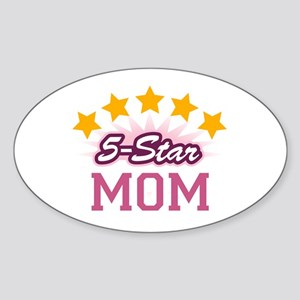5-star Mom Oval Sticker
