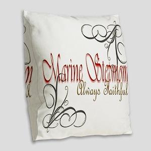 Swirl Stepmom Burlap Throw Pillow