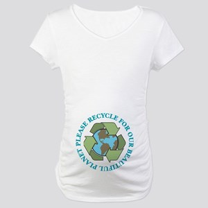 Please Recycle Maternity T-Shirt
