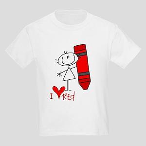 I Love Red Kids Light T-Shirt