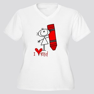 I Love Red Women's Plus Size V-Neck T-Shirt