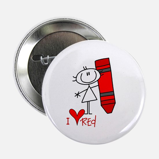 "I Love Red 2.25"" Button"