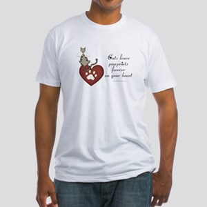Cat Pawprints Fitted T-Shirt