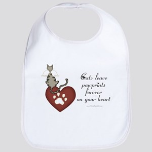 Cat Pawprints Bib