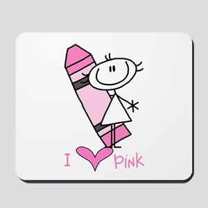 I Love Pink Mousepad