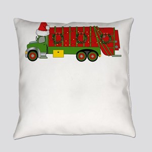 Garbage Truck Christmas Trash Truc Everyday Pillow