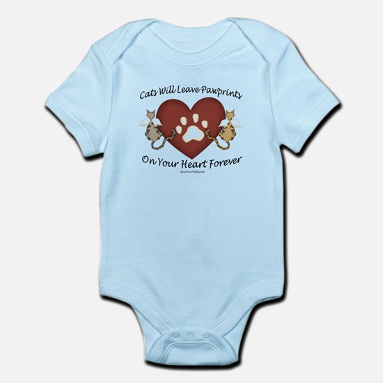 Cat Paw Prints Infant Bodysuit