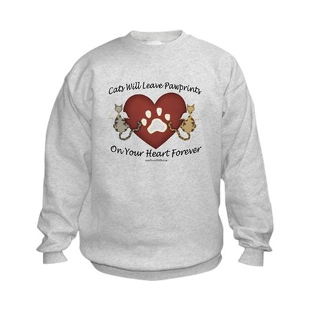 Cat Paw Prints Kids Sweatshirt