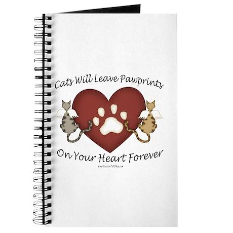 Cat Paw Prints Journal