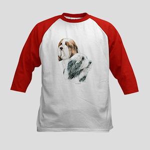 Bearded Collies, Beardie dogs Kids Baseball Jersey