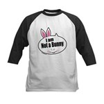 Not a Bunny Funny Kids Baseball Jersey