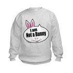 Not a Bunny Funny Kids Sweatshirt