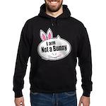 Not a Bunny Funny Hoodie (dark)
