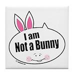 Not a Bunny Funny Tile Coaster