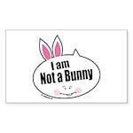 Not a Bunny Funny Rectangle Sticker 50 pk)