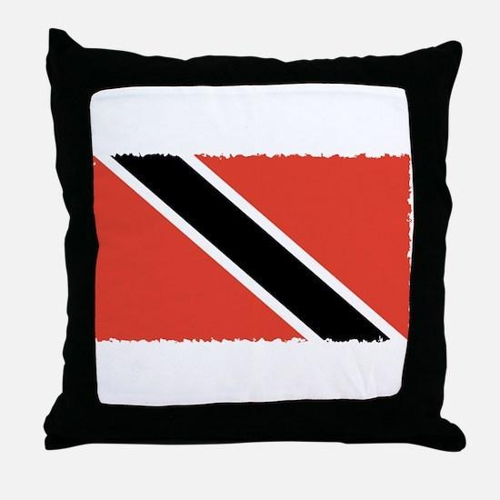 Trinidad Flag Throw Pillow