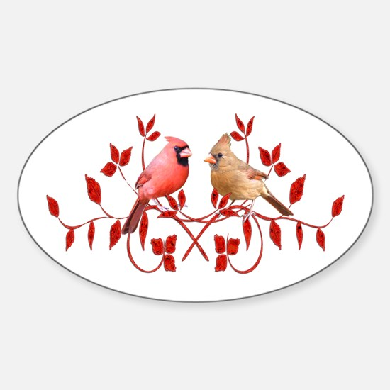 Love Birds Oval Decal