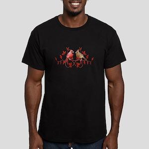 Love Birds Men's Fitted T-Shirt (dark)