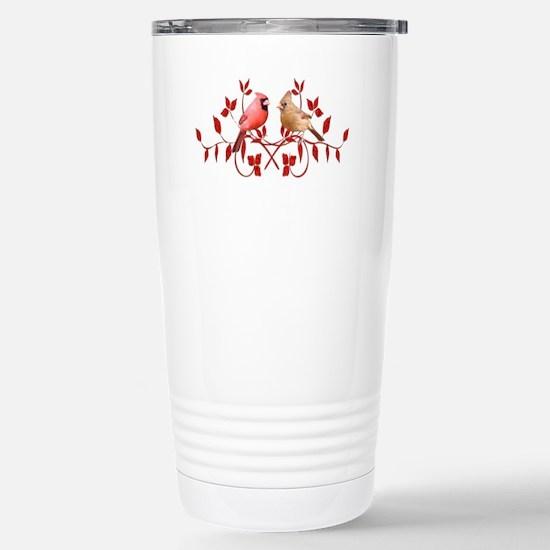 Love Birds Stainless Steel Travel Mug