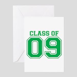 Class Of 09 (Green Varsity) Greeting Card