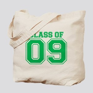 Class Of 09 (Green Varsity) Tote Bag