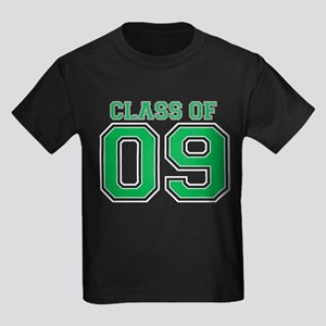 Class Of 09 (Green Varsity) Kids Dark T-Shirt