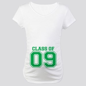 Class Of 09 (Green Varsity) Maternity T-Shirt