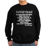 Moliere Writing Quote Sweatshirt (dark)