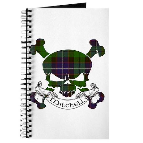 Mitchell Tartan Skull Journal