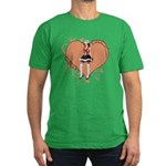 Valentine Wanted (Female) Men's Fitted T-Shirt (da