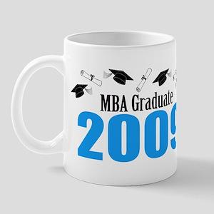 MBA Graduate 2009 (Blue Caps And Diplomas) Mug