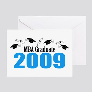 MBA Graduate 2009 (Blue Caps And Diplomas) Greetin