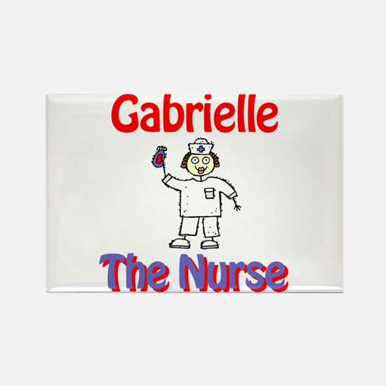 Gabrielle - The Nurse Rectangle Magnet