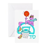 SABRA DOG(Basketball)Jewish Greeting Cards (6)
