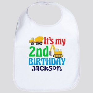 2nd Construction Birthday Baby Bib