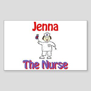 Jenna - The Nurse Rectangle Sticker