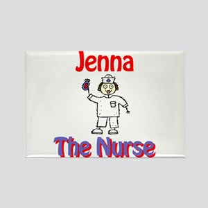 Jenna - The Nurse Rectangle Magnet