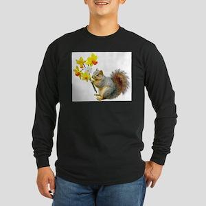 Squirrel Daffodils Long Sleeve T-Shirt