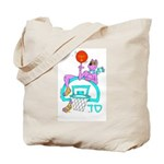 SABRA DOG(Menorah)Jewish Tote Bag