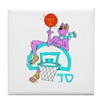 SABRA DOG(Basketball)Jewish/Israeli Tile Coaster